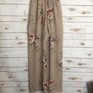 Other - NWOT floral romper with maxi skirt